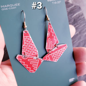 Swedish Holiday Collection - Repurposed Tin Earrings