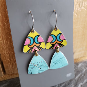The Global Bling Collection -  Repurposed Tin Globe Earrings & Pendant