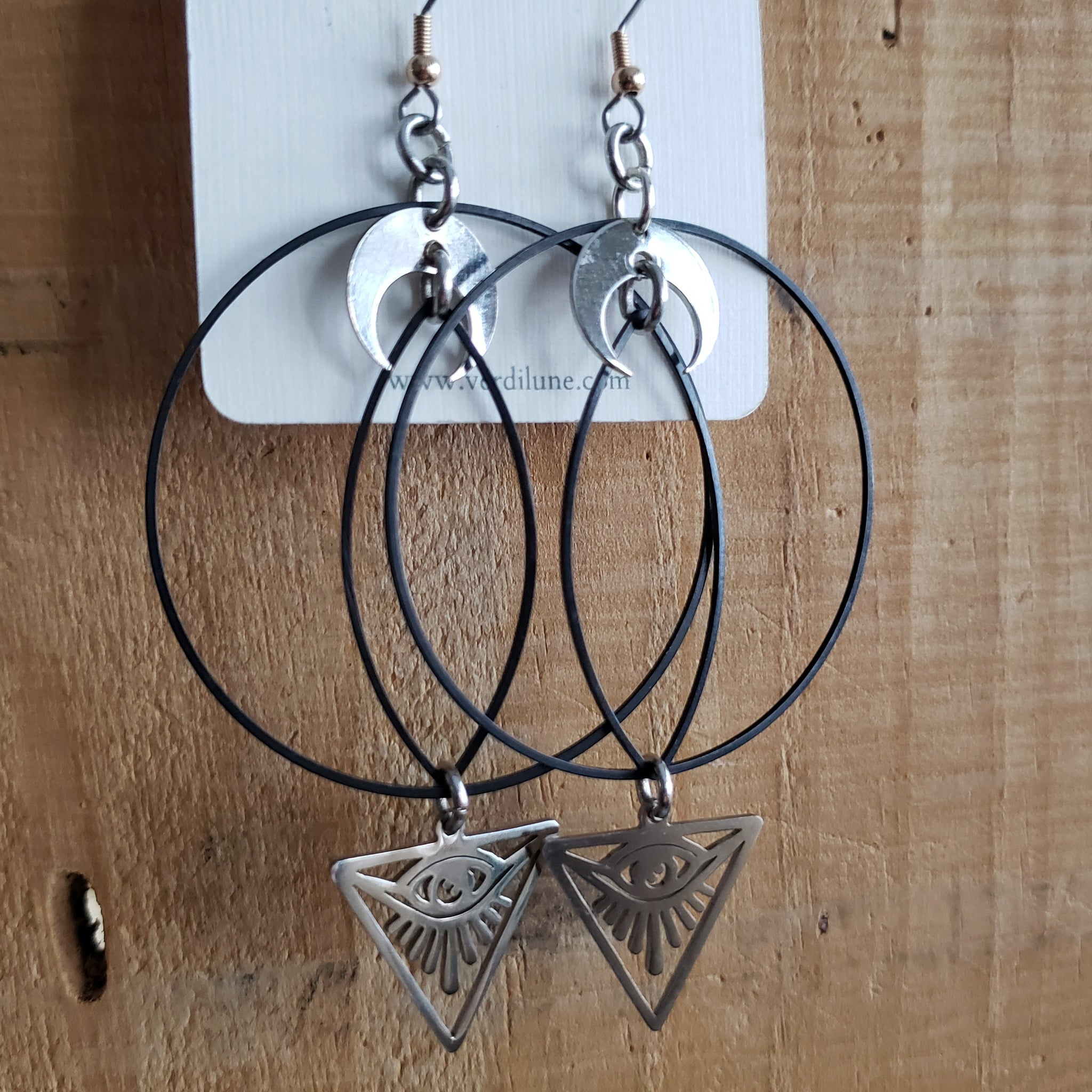 Elemental Metals Collection ◇ Illuminati ◇ Celestially-Inspired Brass Earrings