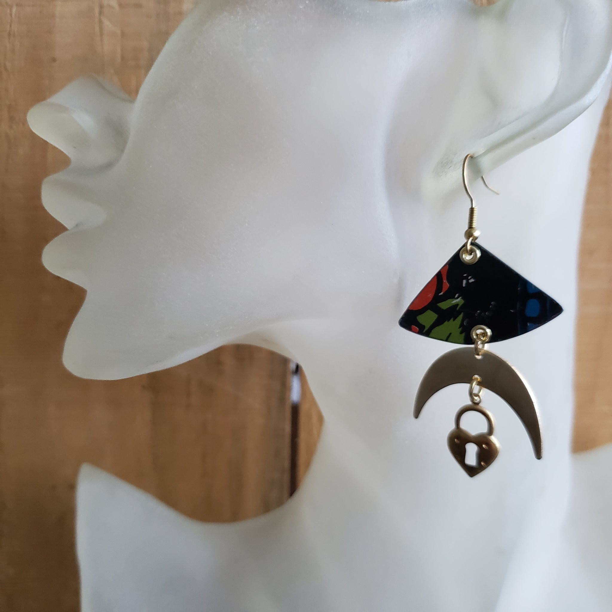 Valentine's Earring Collection - Repurposed Vintage Tin Jewelry