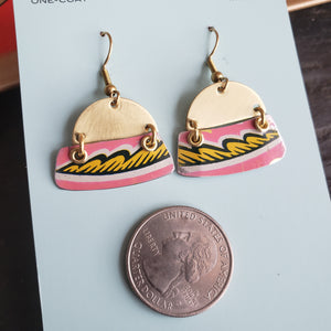 Pink Pennsylvania Dutch Collection - Repurposed Tin Jewelry