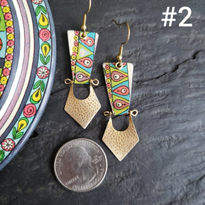 Folk Artsy Woodland Collection - Repurposed Tin Jewelry