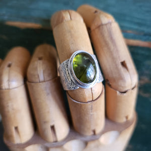Vesuvianite Ring in Sterling Silver Size 8.25