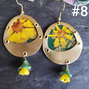 Floral Explosion Collection - Repurposed Vintage Tin Jewelry