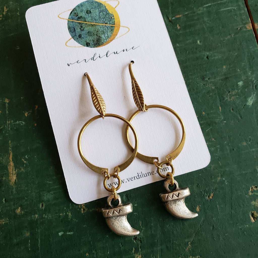 Mixed Metal Claw Earrings