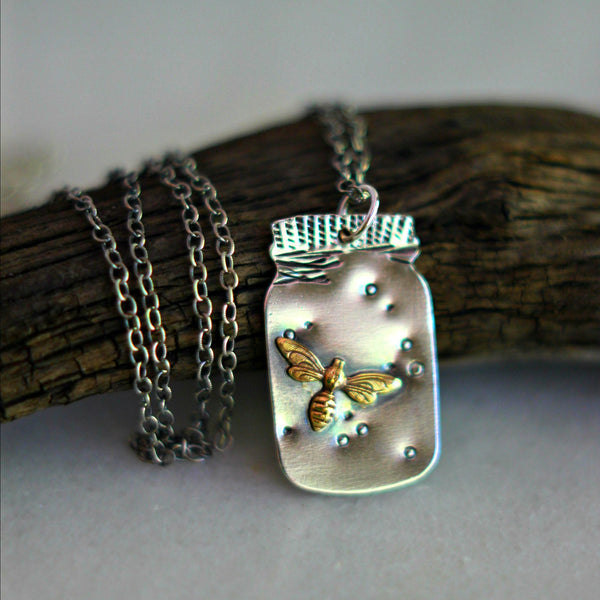 Fireflies in a Mason Jar Pendant