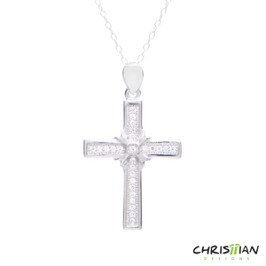 Beautiful .925 Sterling Silver Cross Necklace
