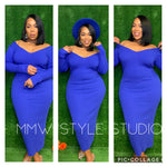 Camille Dress - Royal Blue