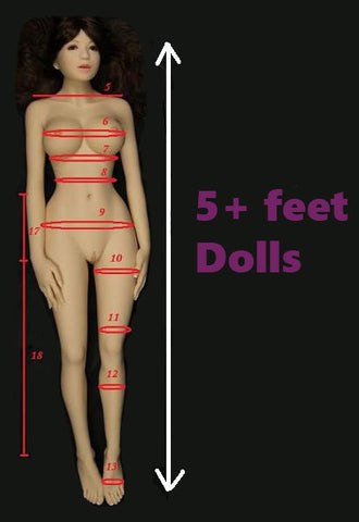 5+ feet height dolls