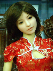 Dolly wears her red Chinese dress