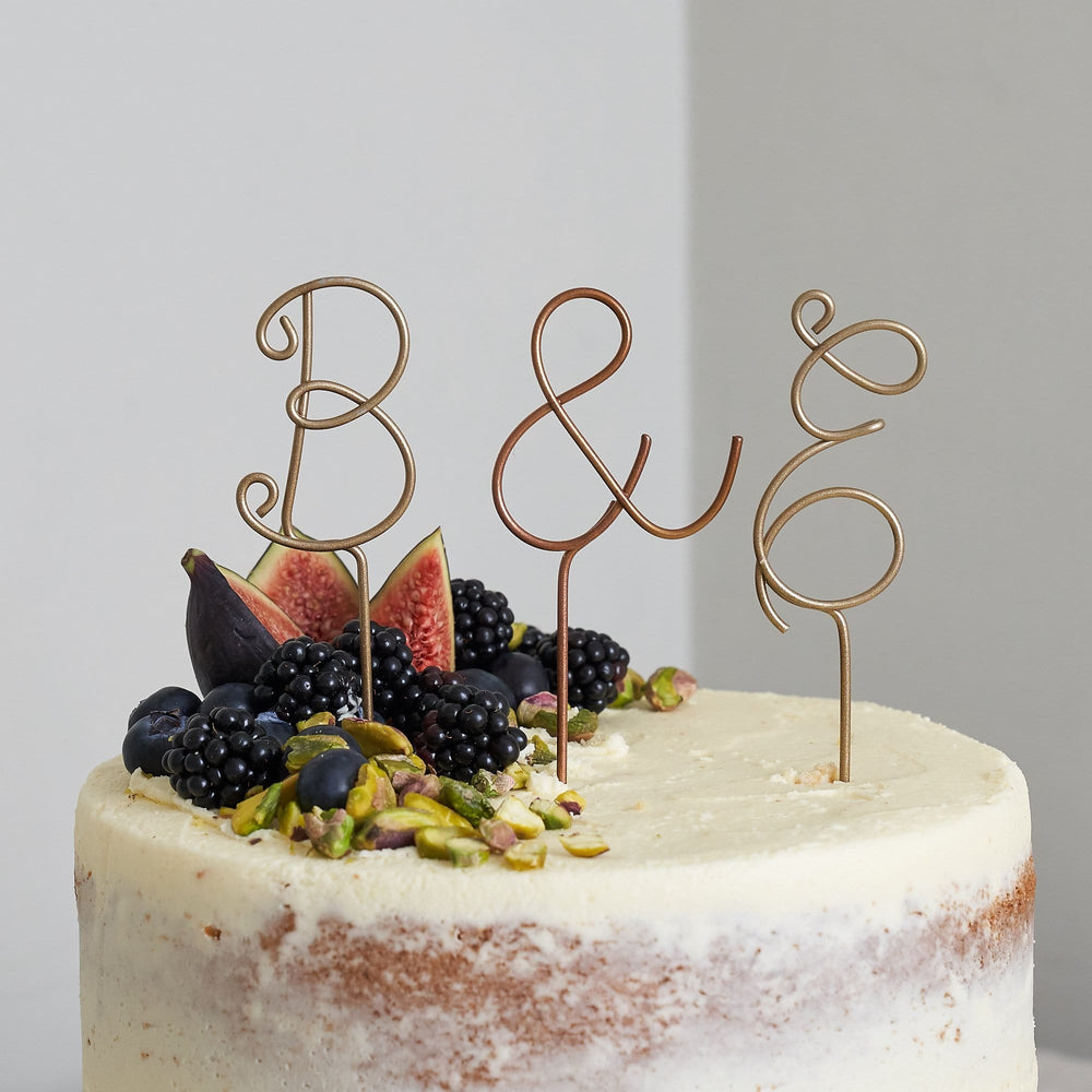 Single Wire Letter Cake Topper