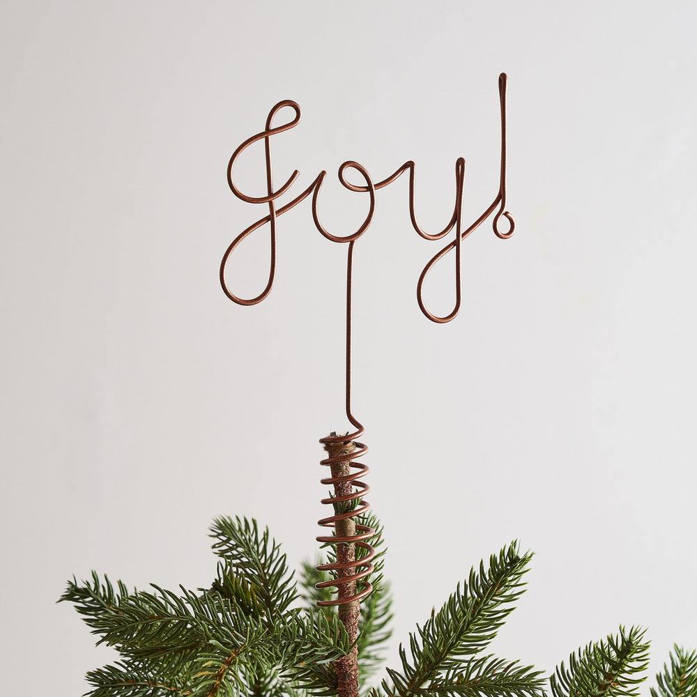 Joy! Christmas Wire Tree Topper