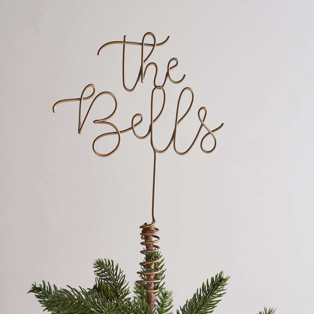 Family Name Wire Word Christmas tree topper