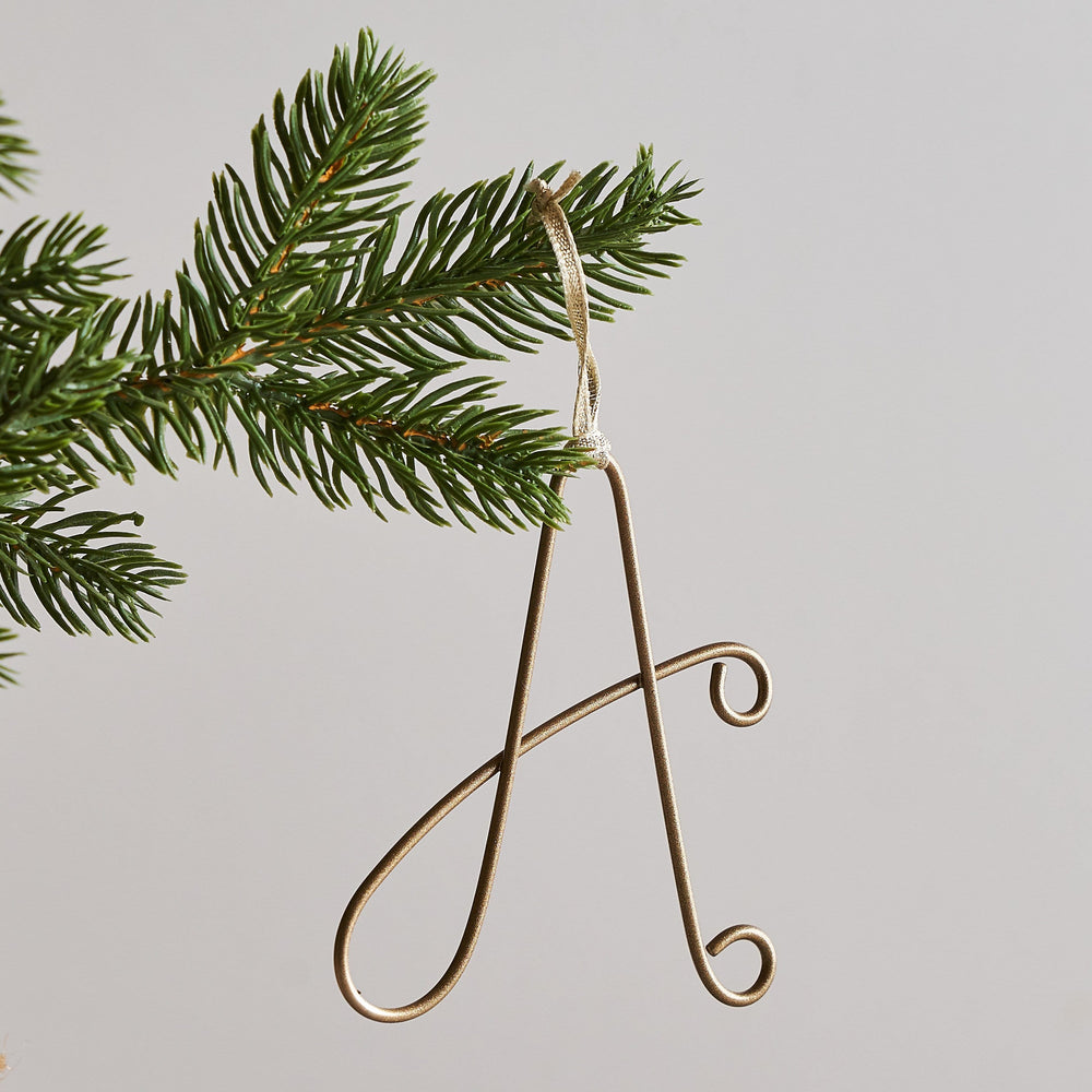 Wire Letter Tree Decoration