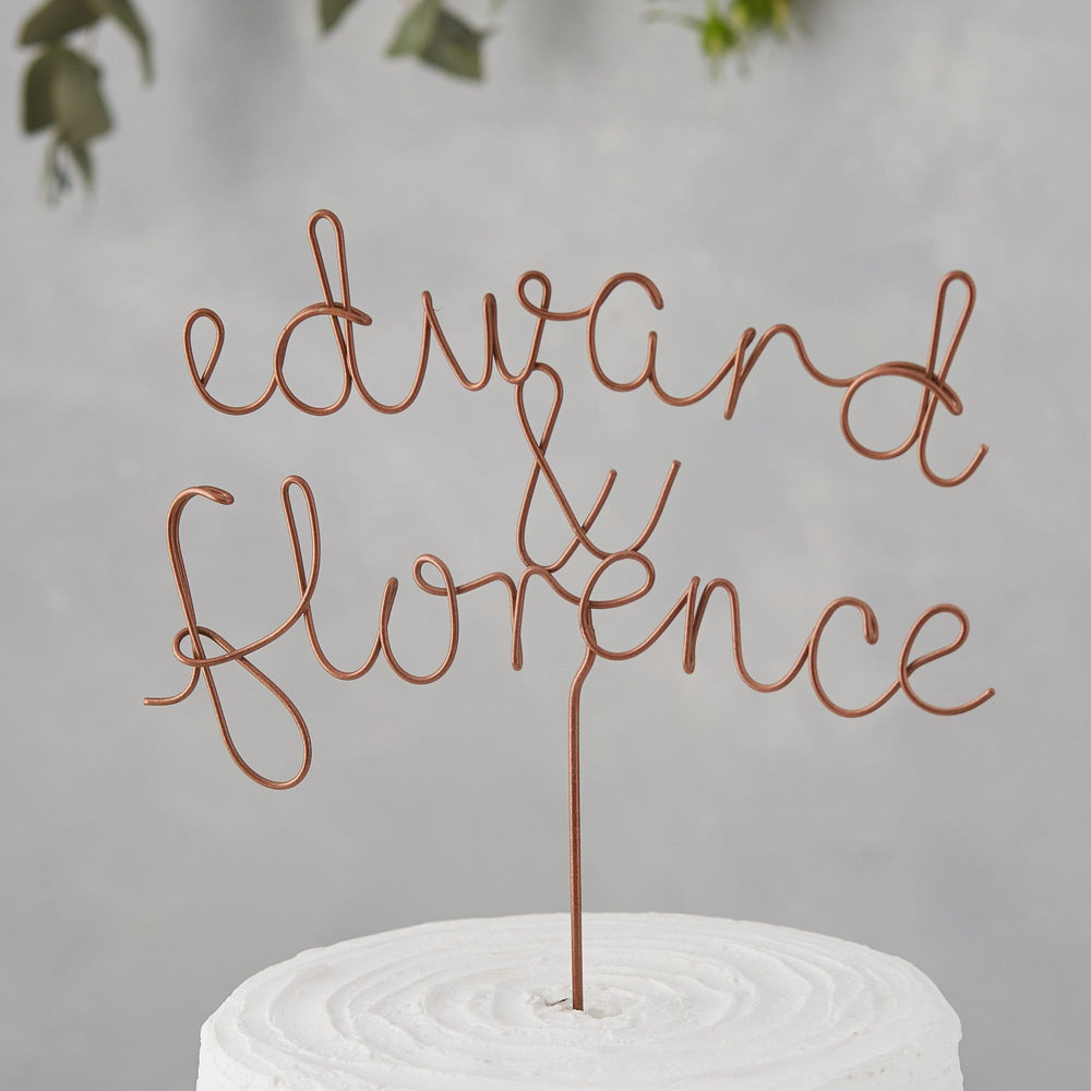 Couple's Names Wire Cake Topper