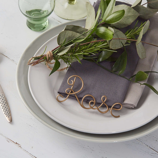 Deluxe Metallic Name Place Settings