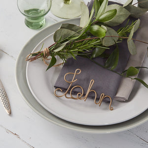 Wire Name Place Settings
