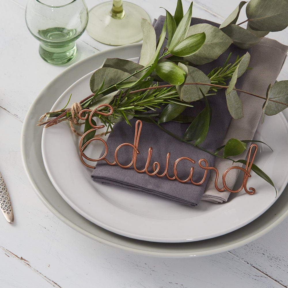 Christmas Table Name Place Settings