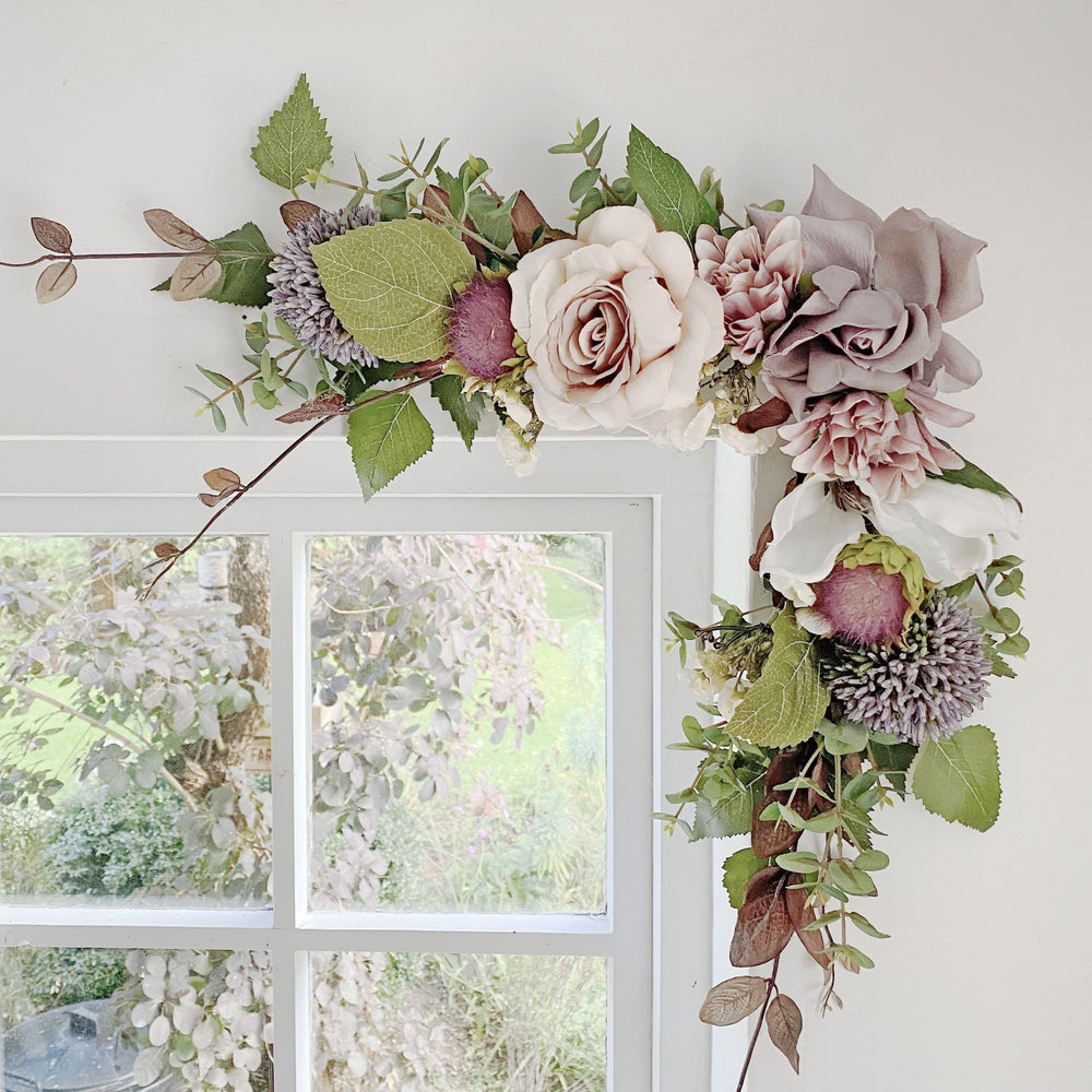 Faux Floral Wall Art