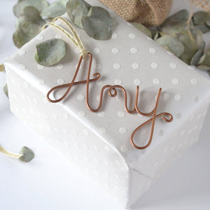 Wire Name Gift Tags