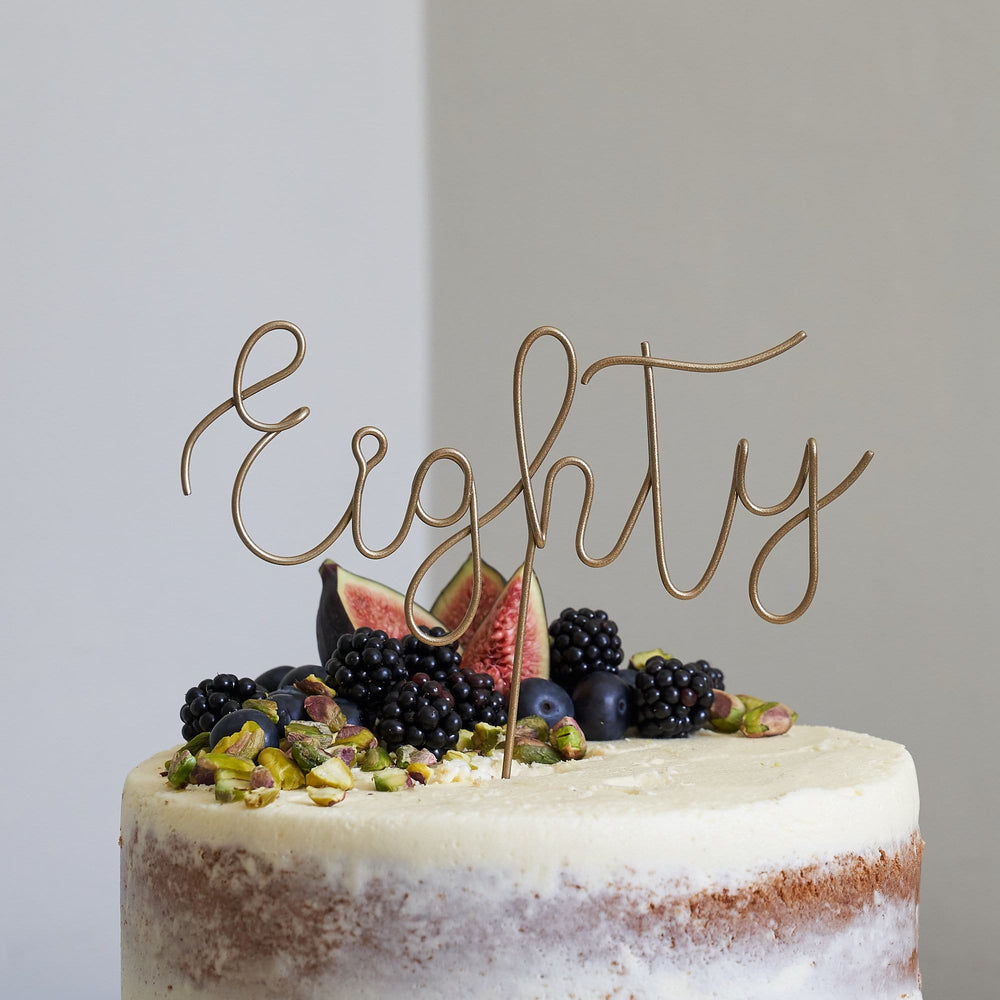 Script Eighty Birthday Cake Topper