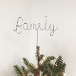 Custom Wire Word Christmas tree topper