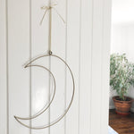Wire Moon Wreath Frame