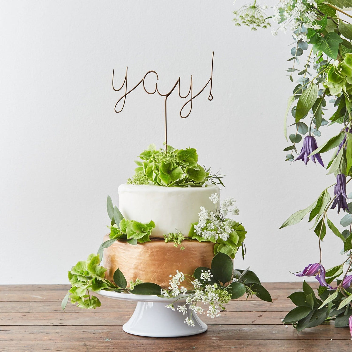 Yay! wire Cake Topper