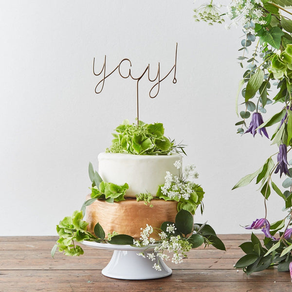 Yay! wire Cake Topper   The Letter Loft