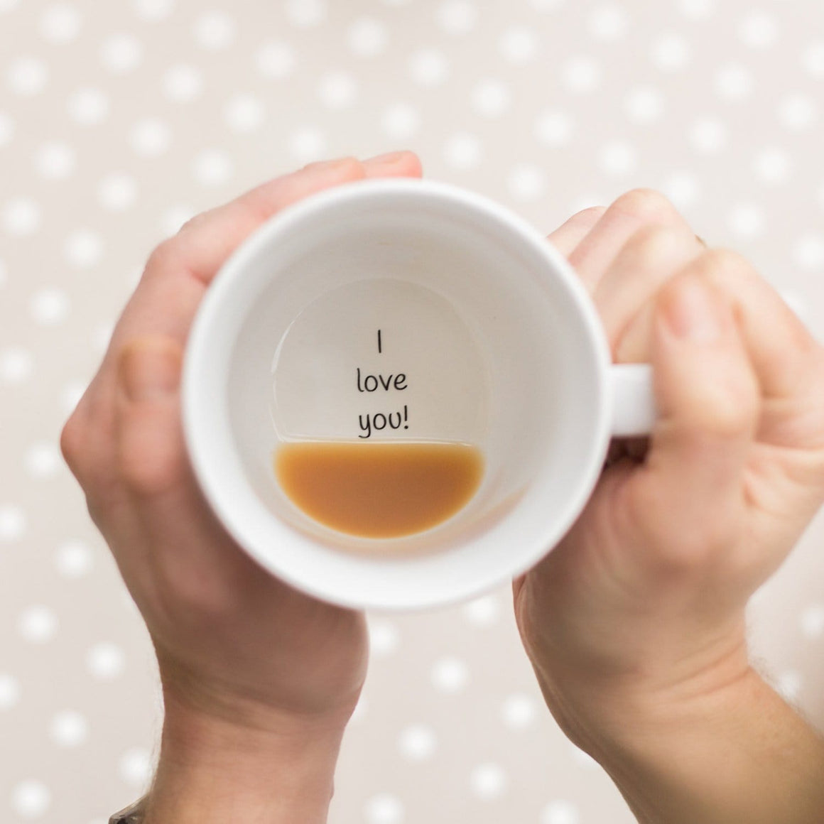 Plain I Love You Hidden Secret Message Mug