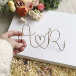 Couple's Initials and Heart Wire Keepsake