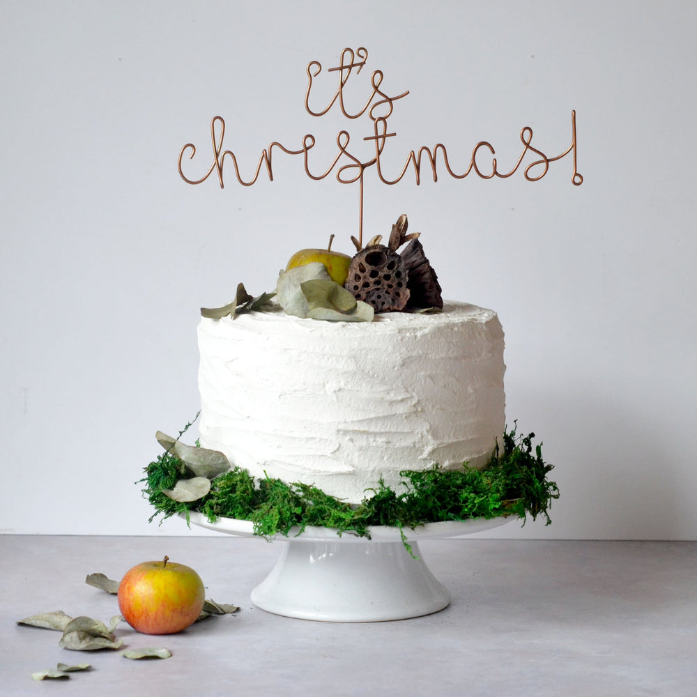 It's Christmas Wire Cake Topper