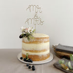 Mr and Mrs Wire Wedding Cake Topper