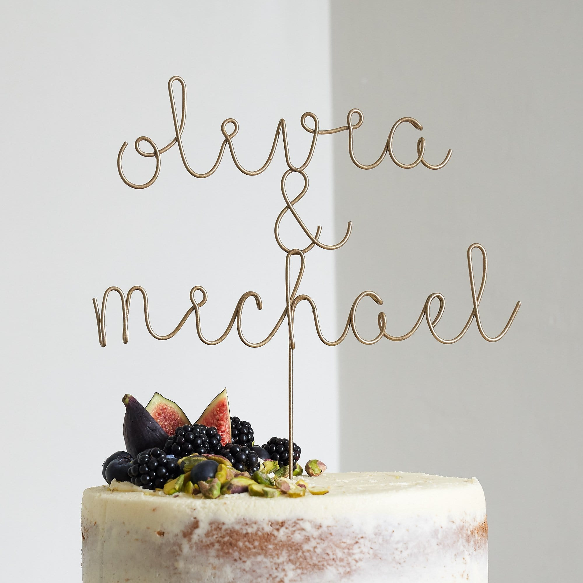 Couple\'s Names Wire Cake Topper – The Letter Loft