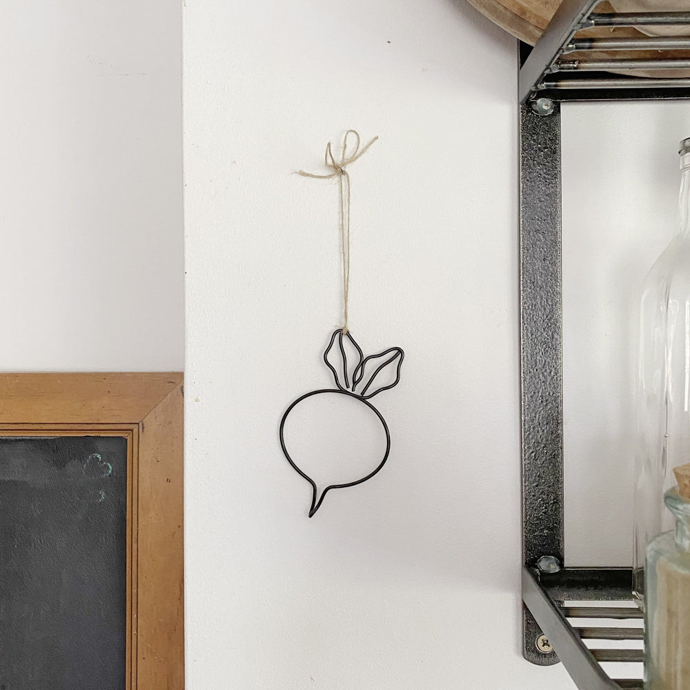 Wire Vegetable Decorations