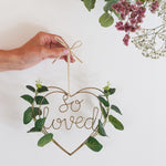 So Loved Wire Heart Wreath