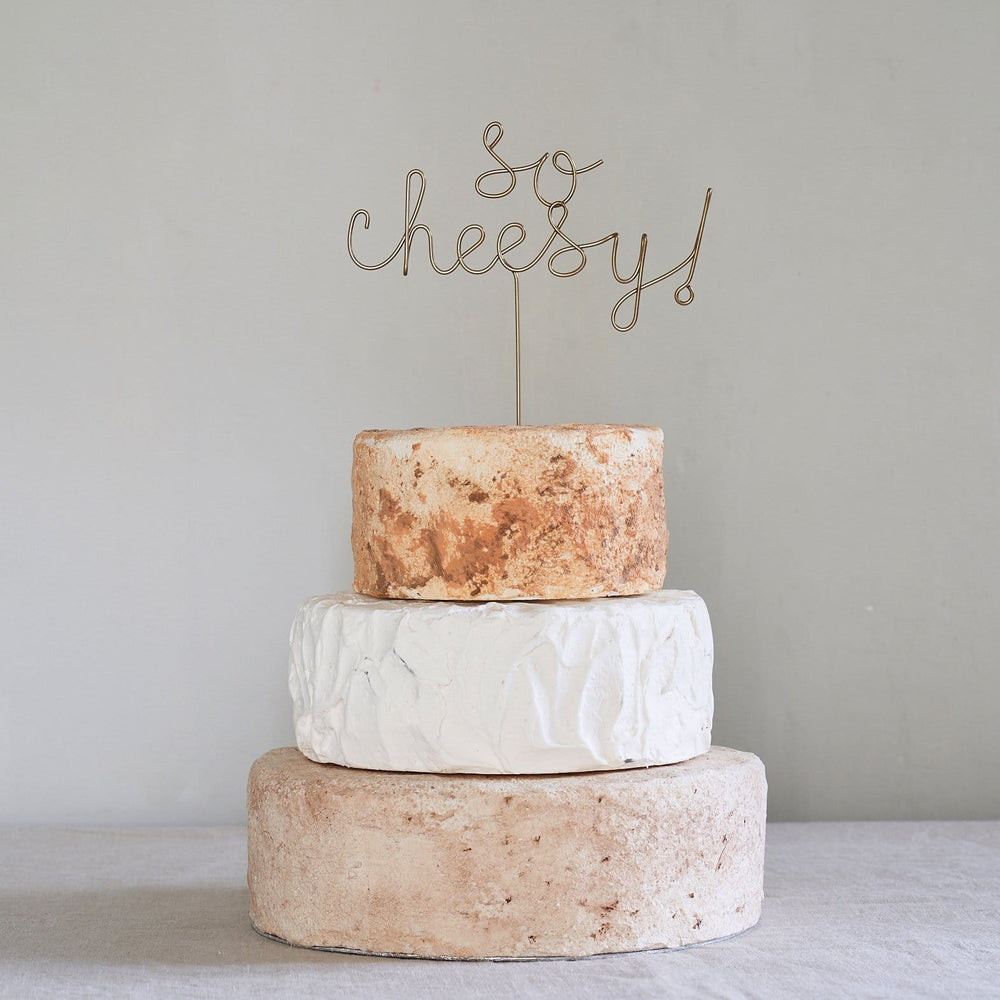 So Cheesy! Wedding Cheese Cake Topper