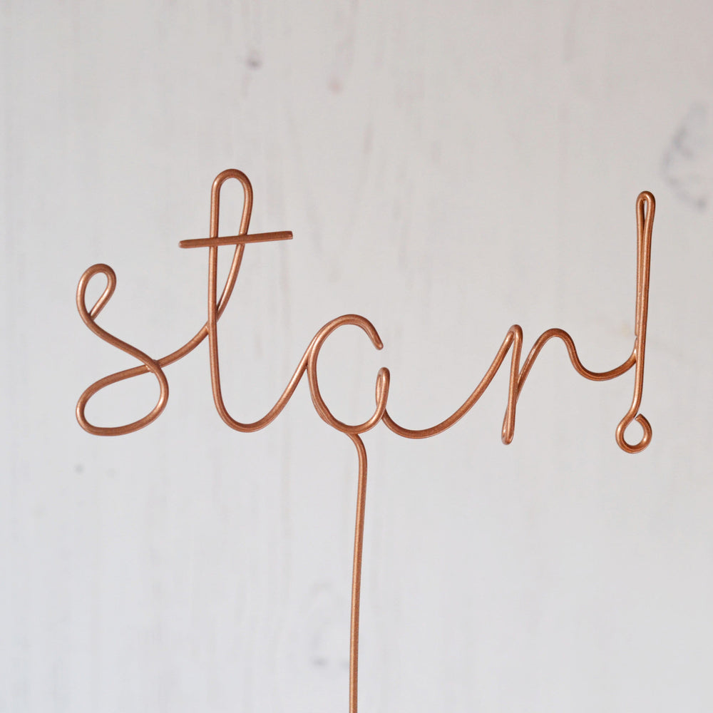 Star! Wire Word Christmas tree topper
