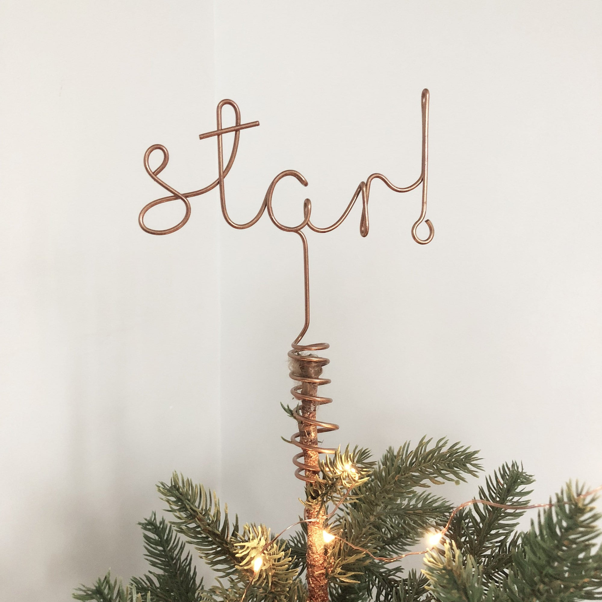 Wire Christmas Tree.Star Wire Word Christmas Tree Topper