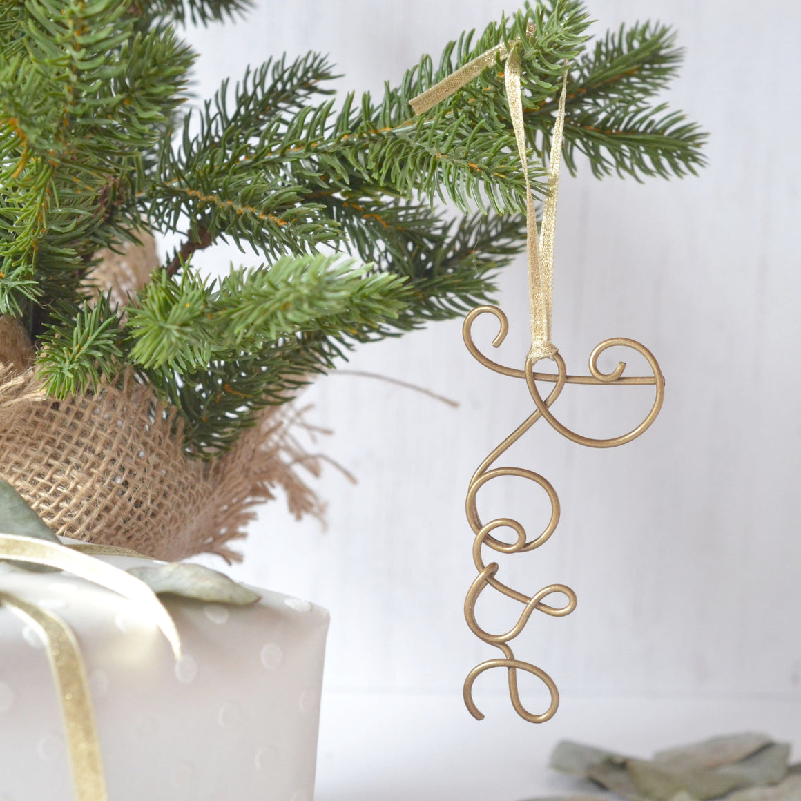 Personalised Wire Name Tree Decoration