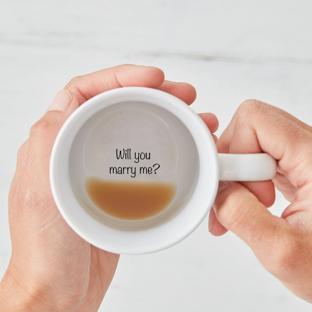 Will You Marry Me? Secret Message mug