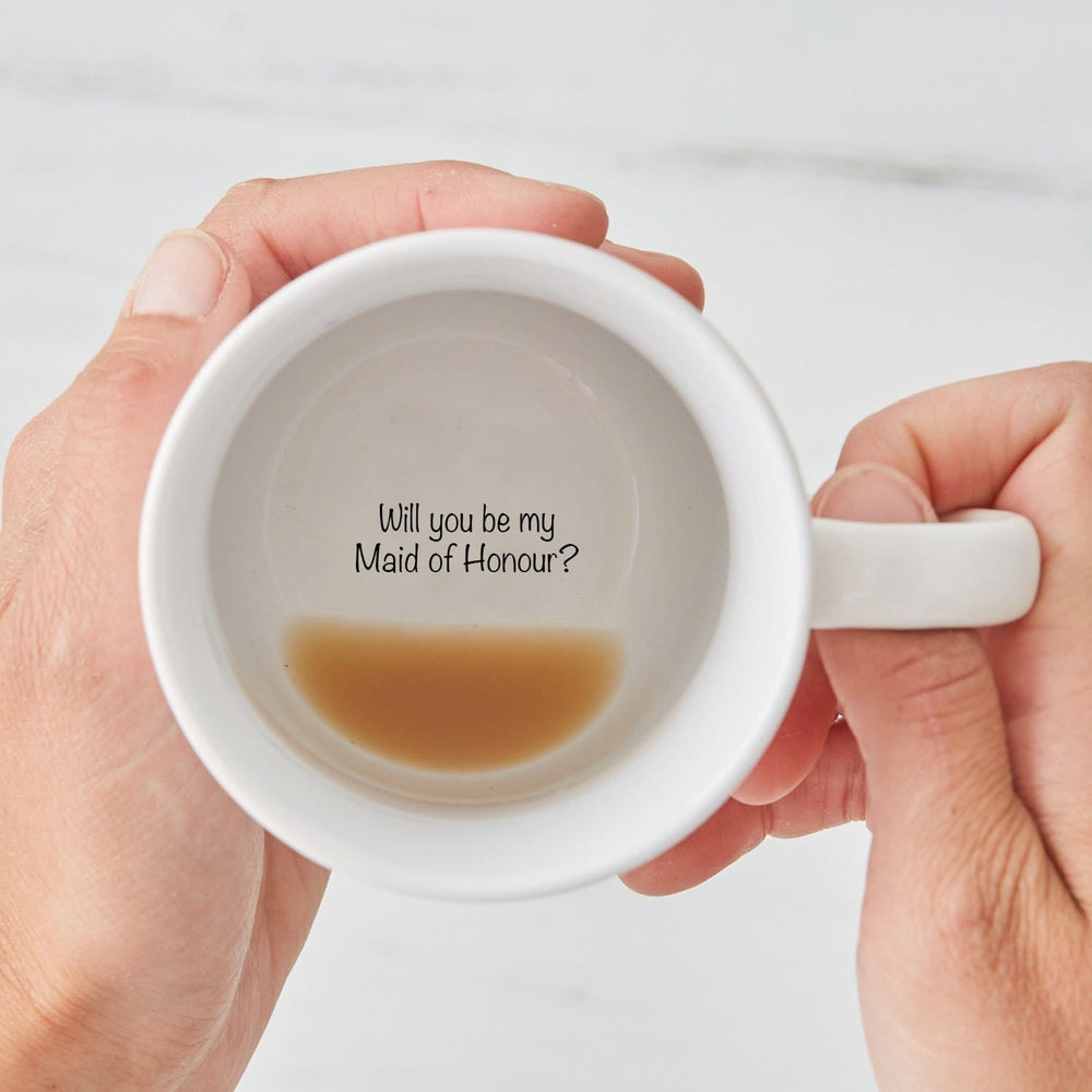 Will you be my Maid of Honour? Secret Message Mug