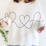 Personalised Initials Wire Sign