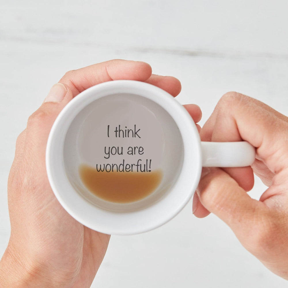 I Think You Are Wonderful! Hidden Secret Message Mug
