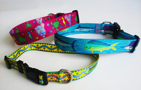 Ultra wide dog collars personalized custom artwork colorfast