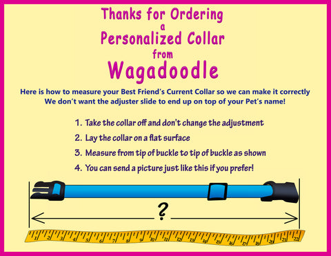 How to measure your pets collar for a perfect fit wagadoodle