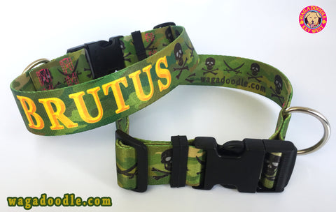 Brutus the doberman badass military dog collar k9