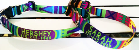 personalized Key West Dog Collars Mayan Weave design