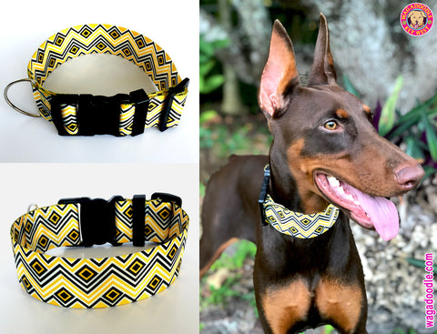 extra wide preppy dog collar