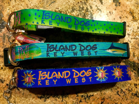 island Dog collars Key West handmade artwork